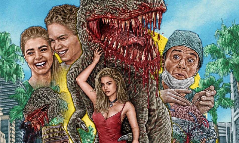 "[Exclusive] Check Out the Bloody Art for Vinegar Syndrome's ""Gore Cut"" Release of 'Tammy and the T-Rex'! - Bloody Disgusting"