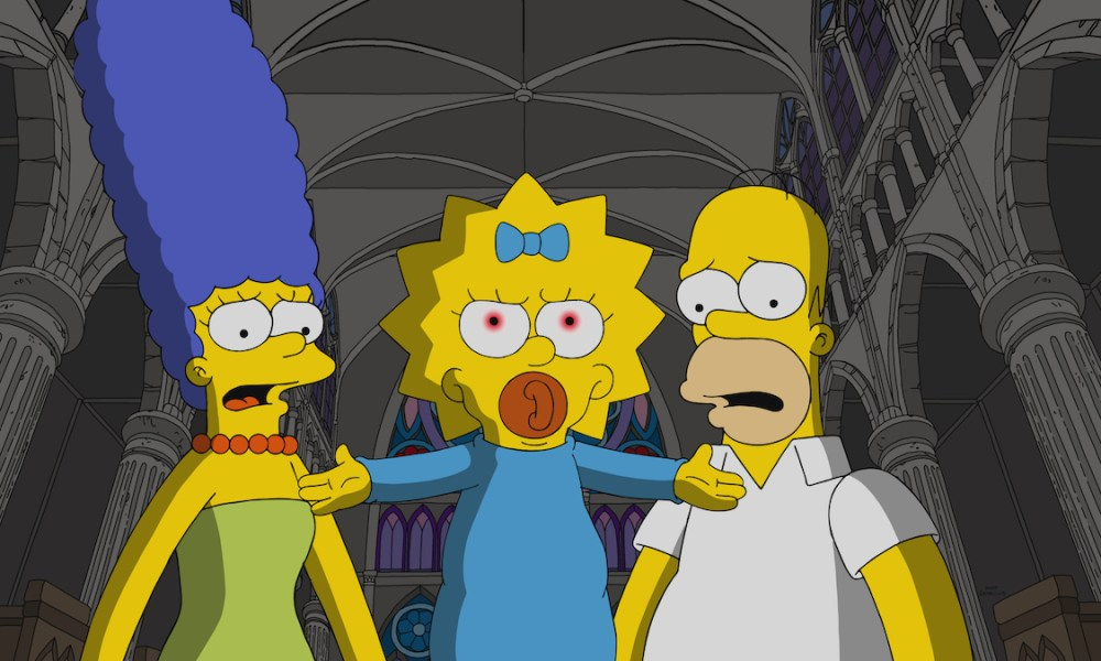 The Simpsons Watch The Omen Inspired Opening Scene From Treehouse Of Horror Xxx Exclusive Bloody Disgusting