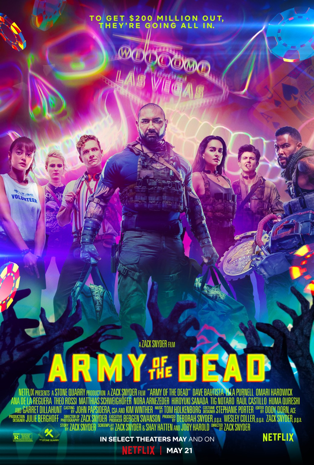 Trippy New Poster for Zack Snyder's 'Army of the Dead' Embraces the Las  Vegas Setting - Bloody Disgusting