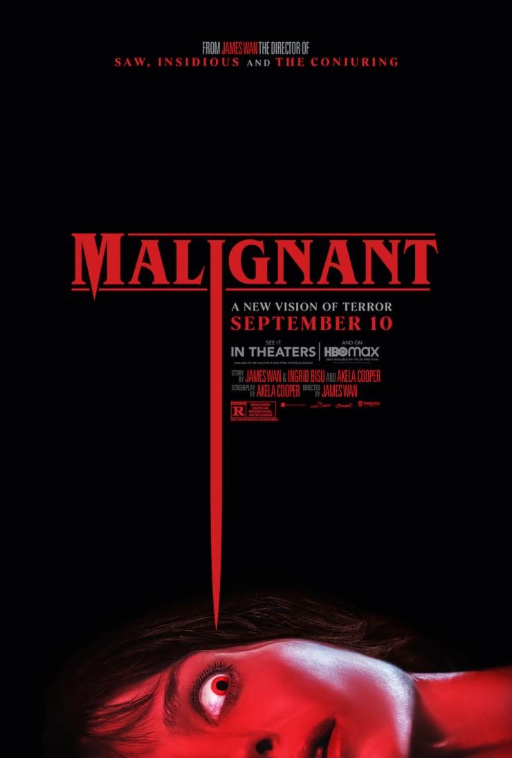 'Malignant' Poster Bloody Disgusting Exclusive hidden watermark
