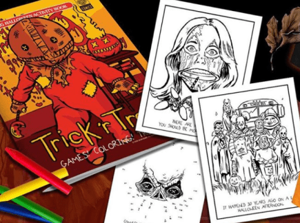 Halloween Giveaway - Fright Rags Trick 'r Treat activity book