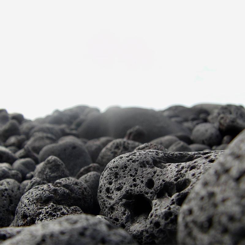 Représentation photo de la pierre de lave