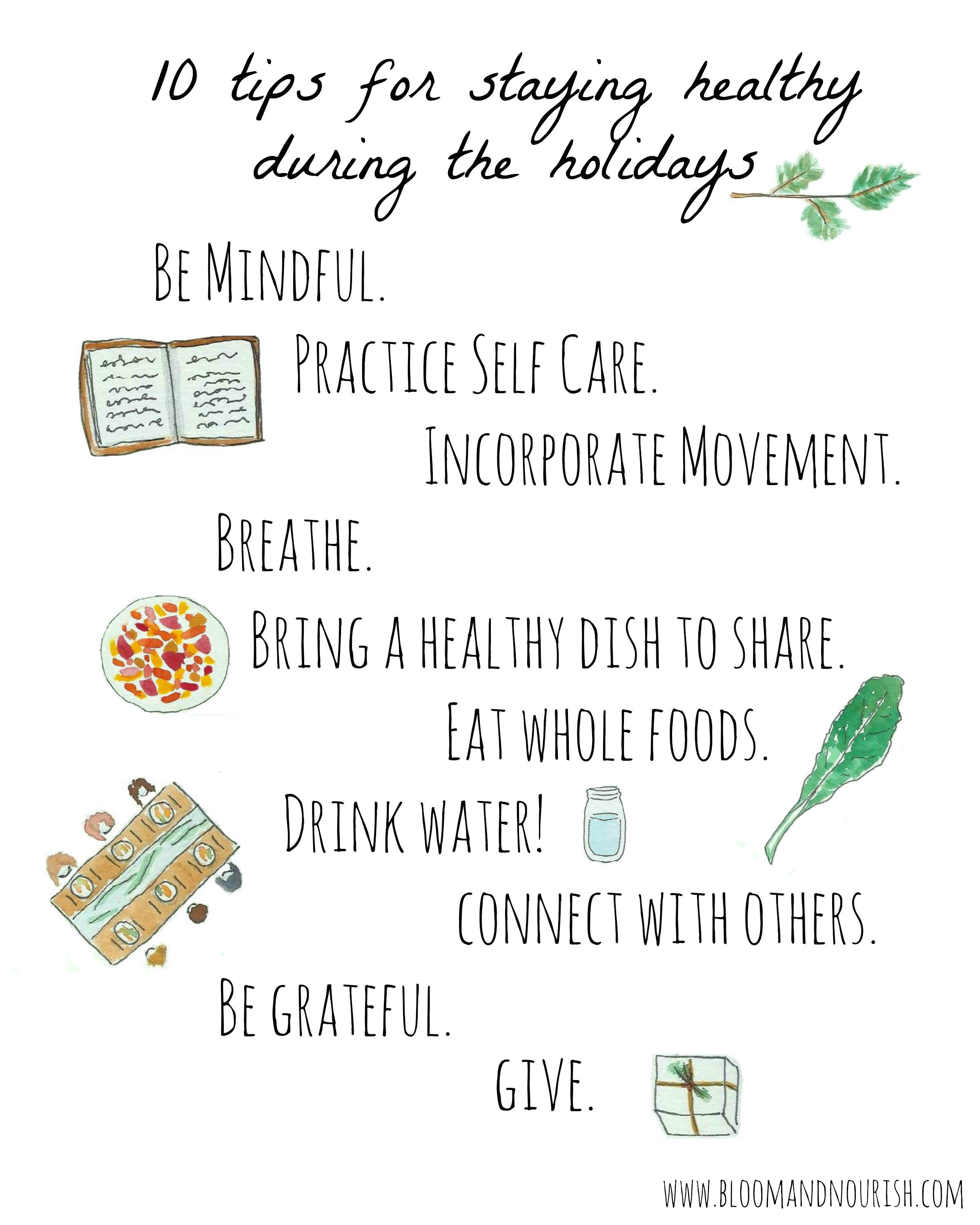 10 Tips For Staying Healthy During The Holidays
