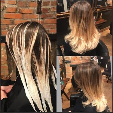 Soft graduated balayage