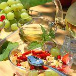 9746082 - healthy breakfast in the garden.