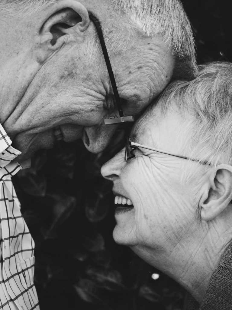 Aging Joy smiles