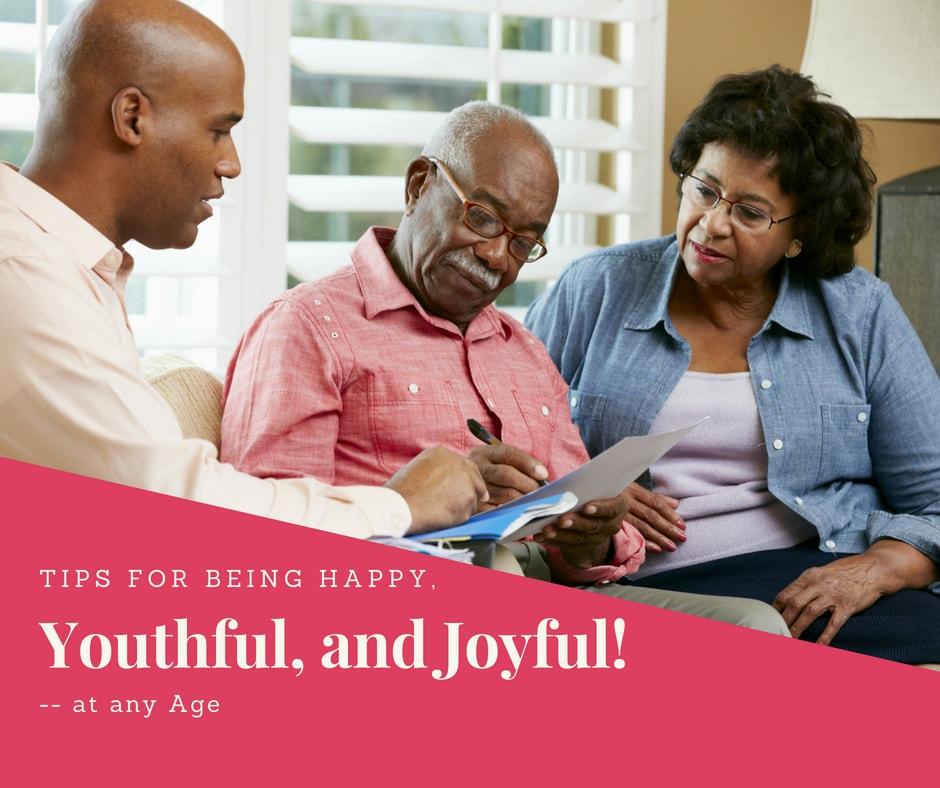 being happy youthful and joyful