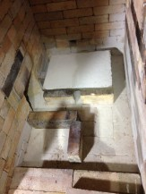 Floor layout. The kiln is actually designed for three 12x24 shelves instead of the one pictured.
