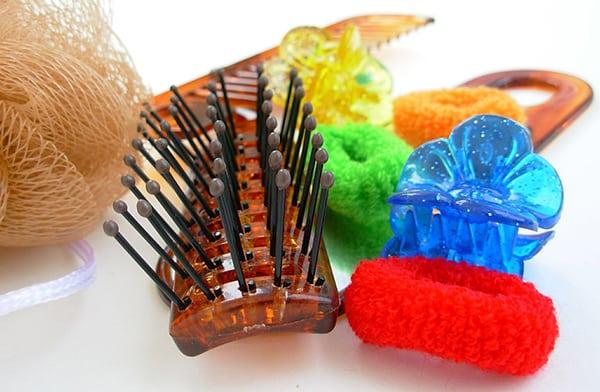 clean hair tools