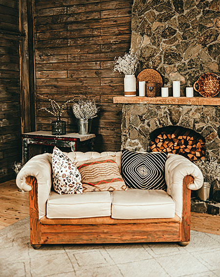natural materials for interior design