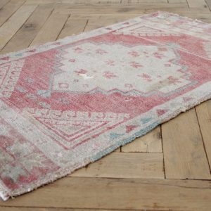 Small Vintage Turkish Accent Rug