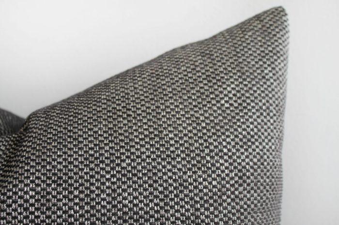 Black and Tan Woven Designer Lumbar Pillow Covers