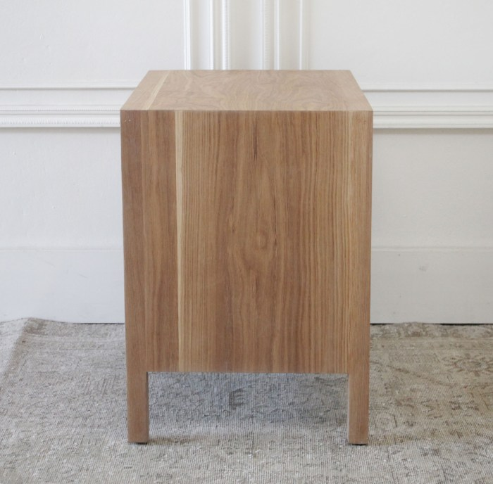 Custom Made White Oak Nightstand with Three Drawers