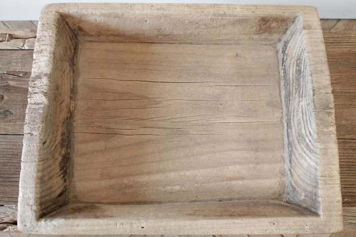 Vintage Wood Trough Decorative Bowl