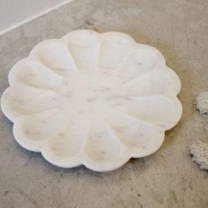 Petite Marble Round Petal Trays