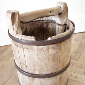 Vintage Chinese Wooden Decorative Bucket
