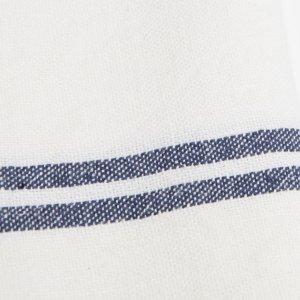 Ivory/Navy Vintage Linen Towels S/2