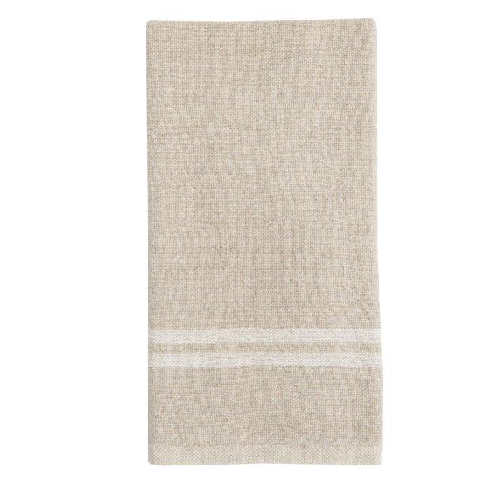 Natural/White Vintage Linen Towels S/2