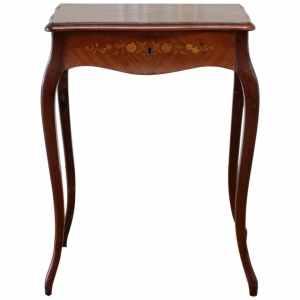 Marquetry Inlaid Ladies Vanity Dressing Table