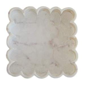Marble Square Petals Tray