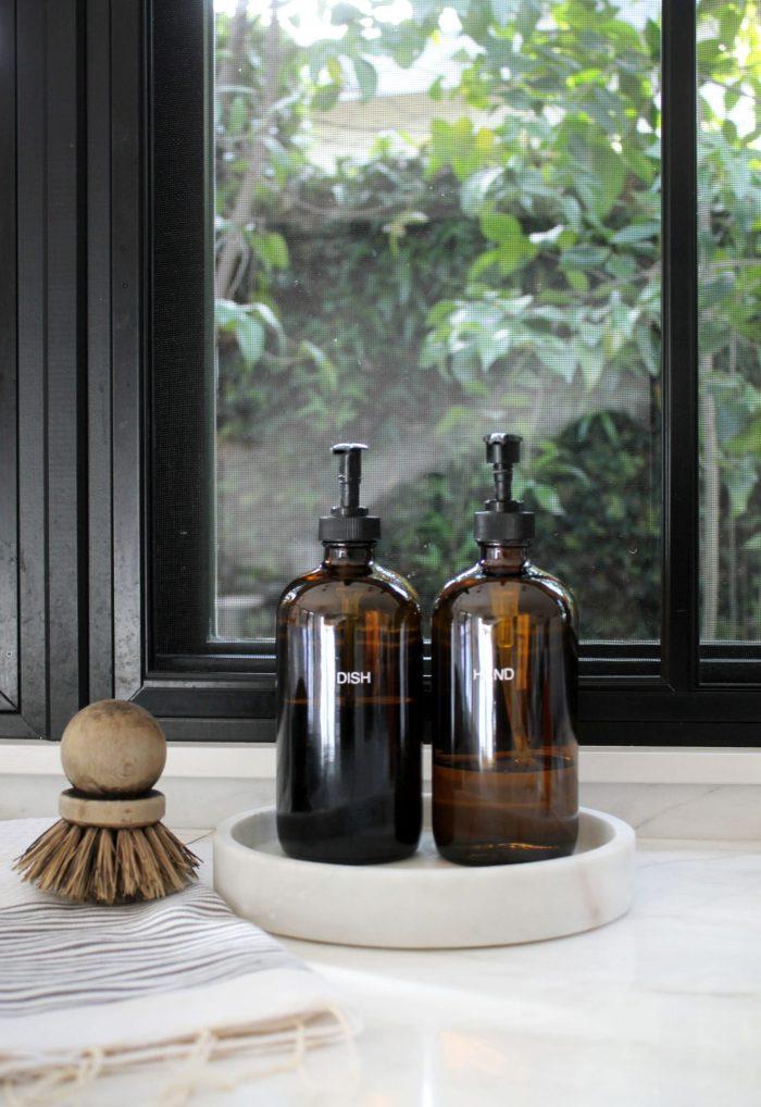 Amber Soap Bottles