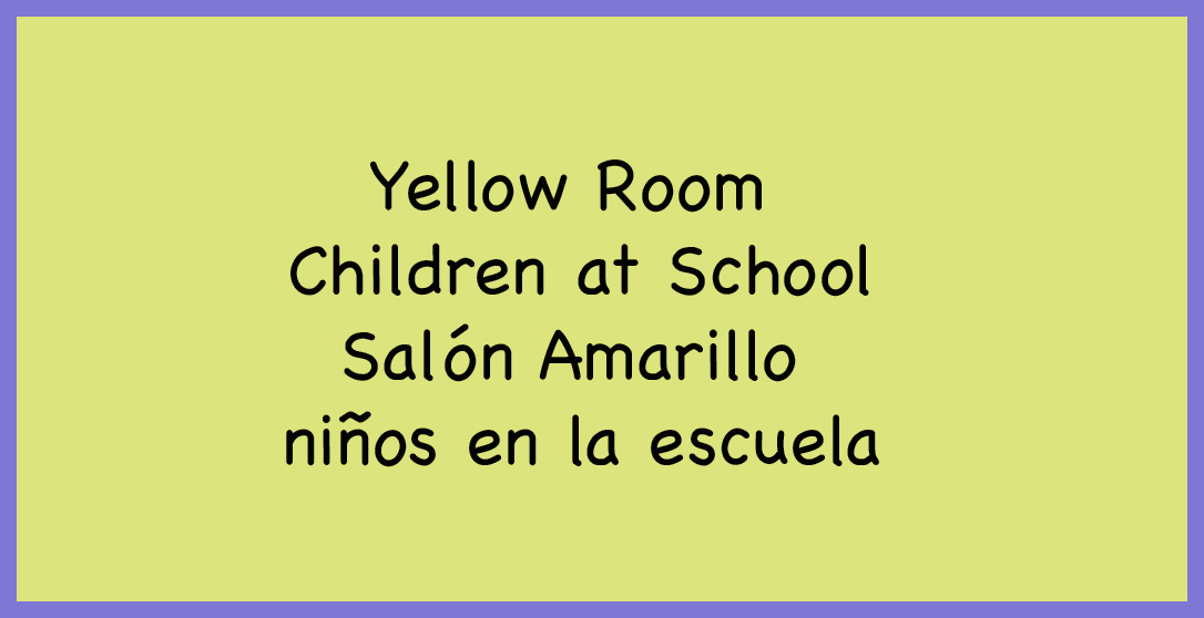 Yellow Room Children at School