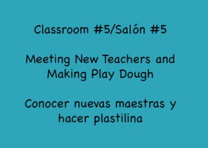 Classroom #5 Makes Play Dough