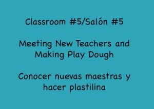 Classroom #5 Makes Play Dough