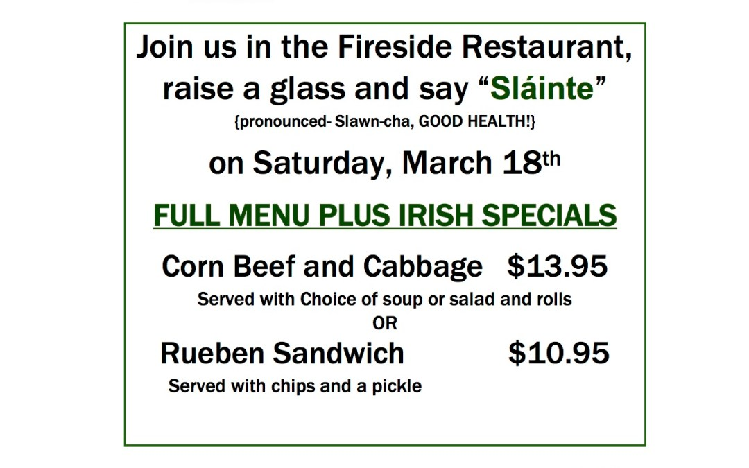 St. Patrick's Day Dinner Special