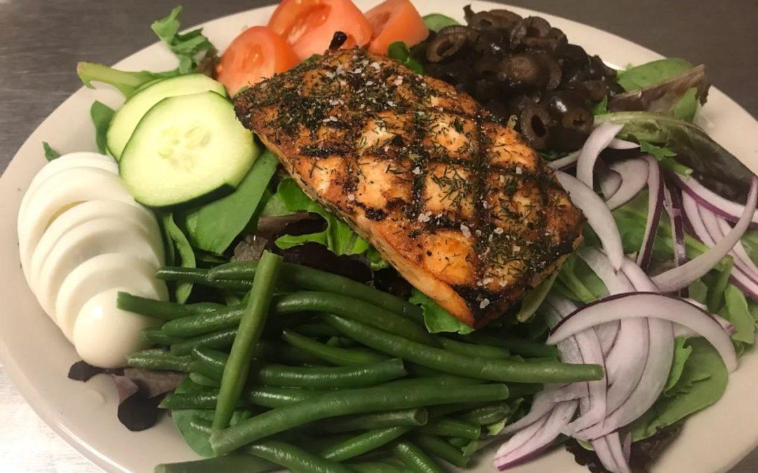 August Seafood Special – Salmon Nicoise Salad