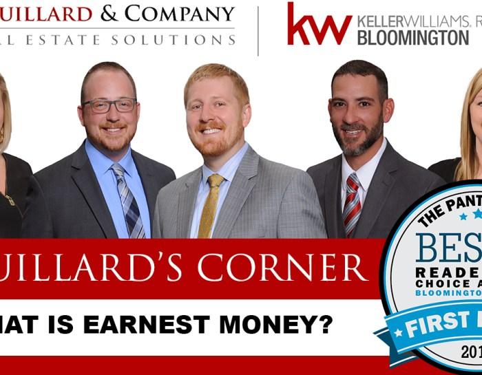 Couillard's Corner – What is Earnest Money?