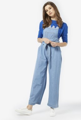 Blue Pure Cotton Jumpsuit
