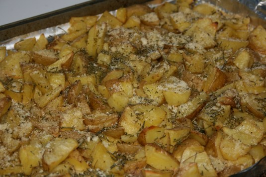 rosemary potatoes and parmesean