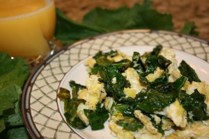 healthy kale breakfast