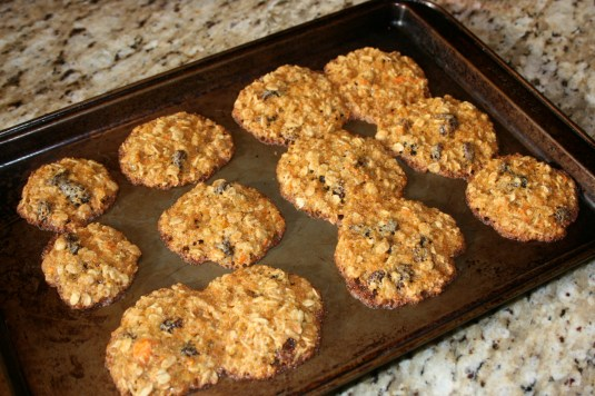 oatmeal carrot cookies fresh from the oven