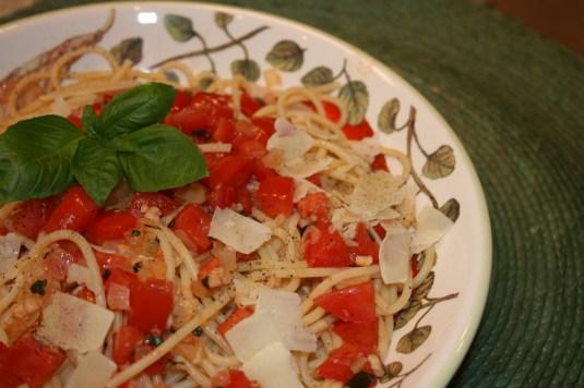 ingredients used - tomatoes - basil - onion - garlic