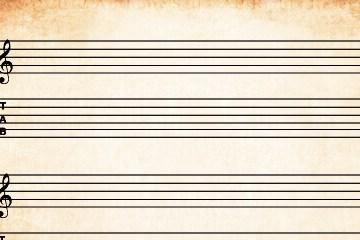 Folha de pauta GUITARRA TAB Folha de pauta GUITARRA TAB pauta guitarra tab