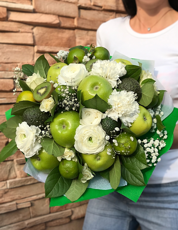 bouquet d fruits verts