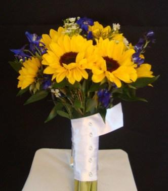 sunflowerwithpurpleandsatin