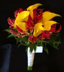 yellowlilieswithred-and-satin