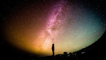 focused attention on the milky way
