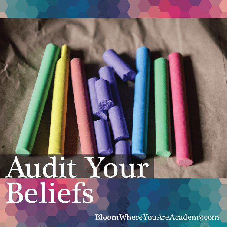 Audit your beliefs Blog Title graphic