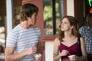 Left to right: Blake Jenner plays Jake and Zoey Deutch plays Beverly in Everybody Wants Some from Paramount Pictures and Annapurna Pictures.