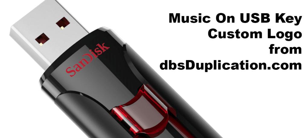 Music On USB Key Custom Logo