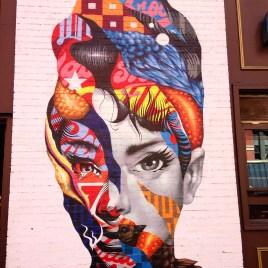 Audrey Hepborn graffiti, Nolita, NYC