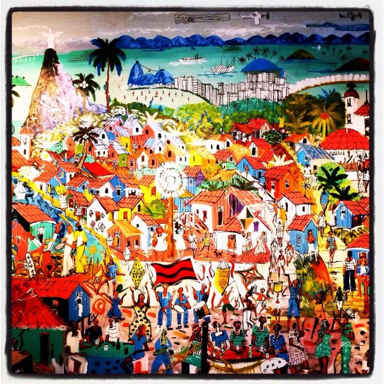 Favela art, Cantagalo, Rio de Janeiro