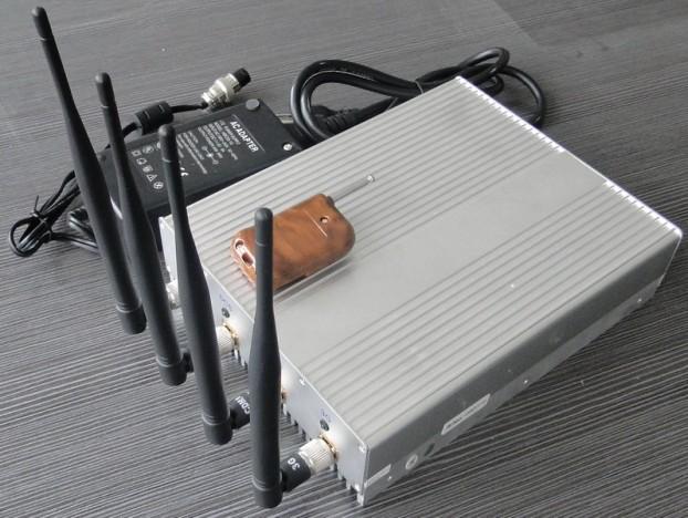 10W Potencia Bloqueador de Celular 3G CDMA GPS WiFi com Controle Remoto