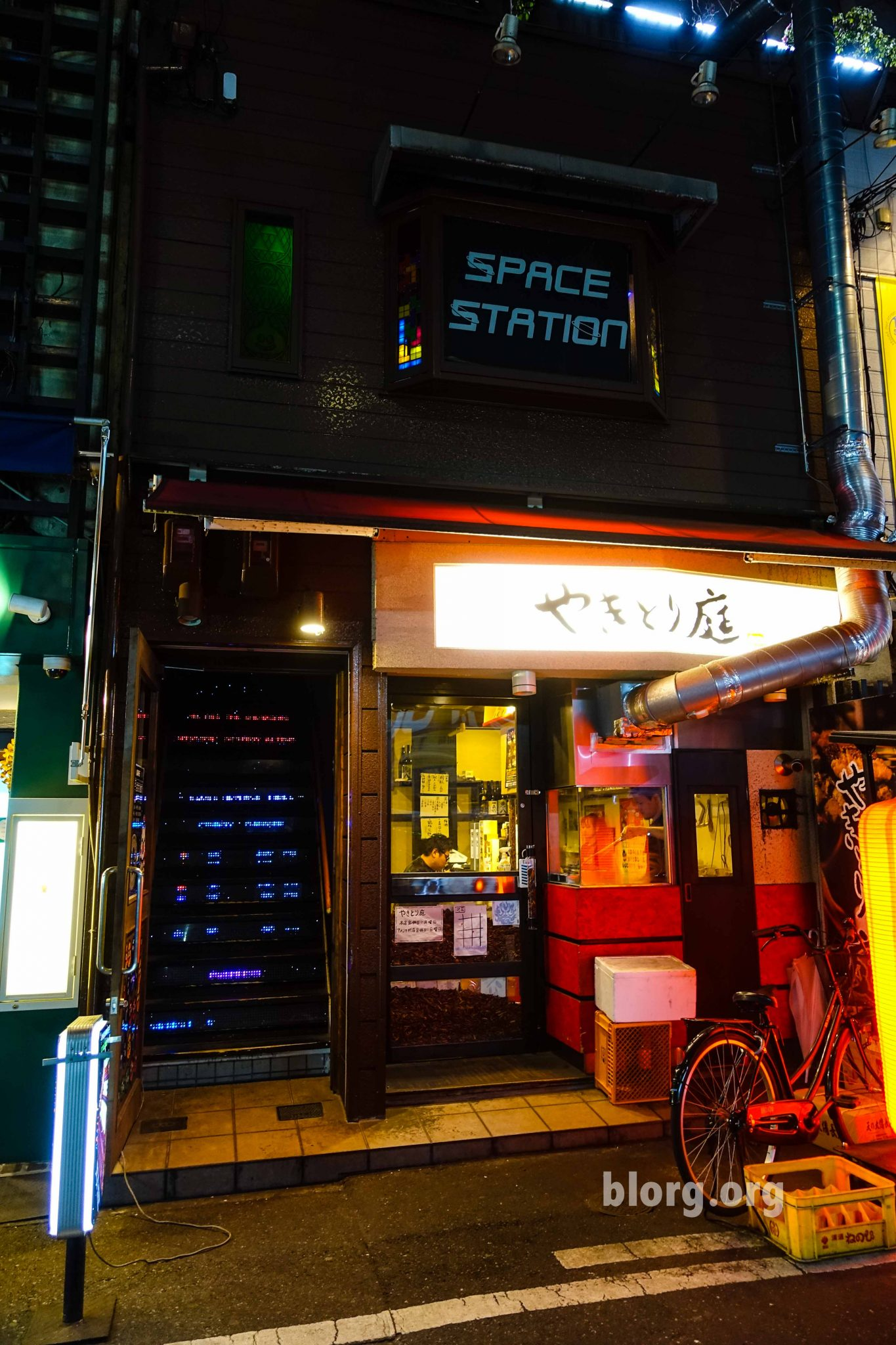 Space Station Arcade Bar in Japan