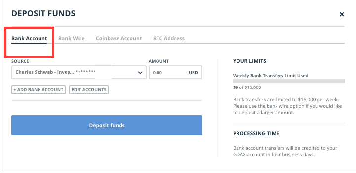 open bank account just for buy sell cryptocurrency