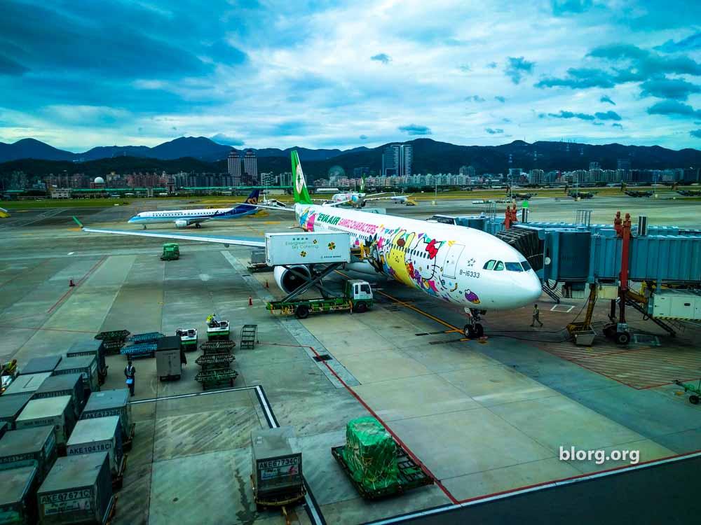 Traveling on the Hello Kitty Plane: Tokyo to Taipei